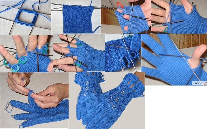 Вязанные перчатки фото и схемы