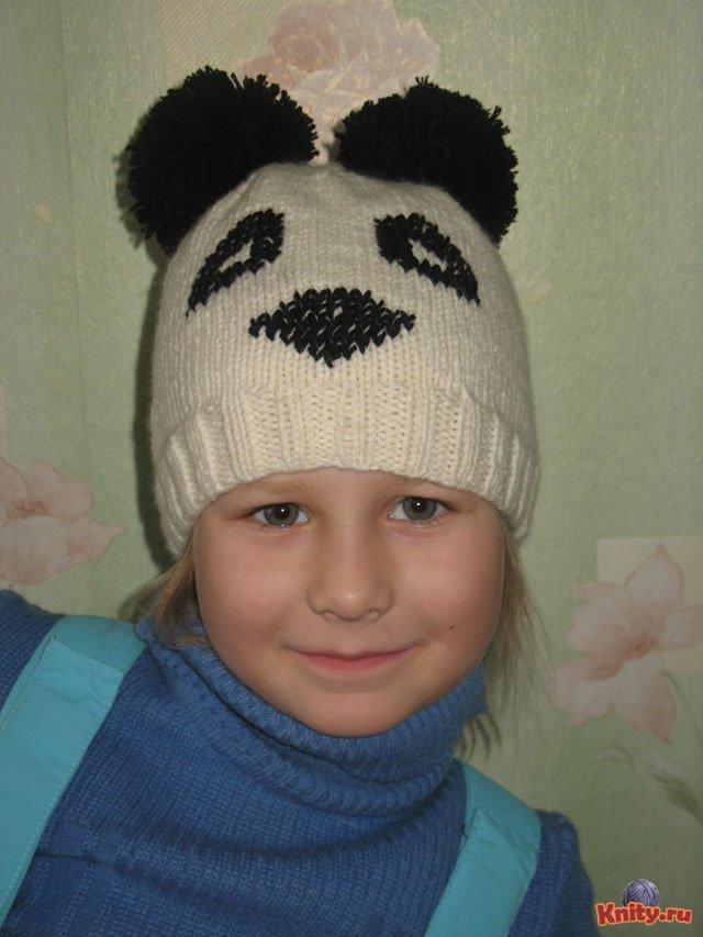 Комментарий: схемы вязания шапки панды - Шарф, шапки.