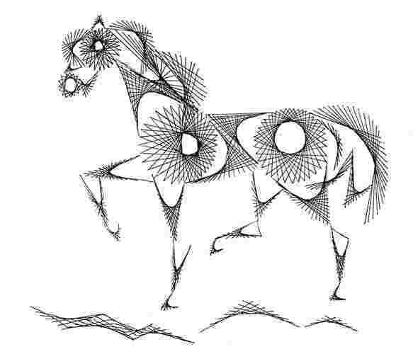 """Схема для изонити """"Лошадь"""""""