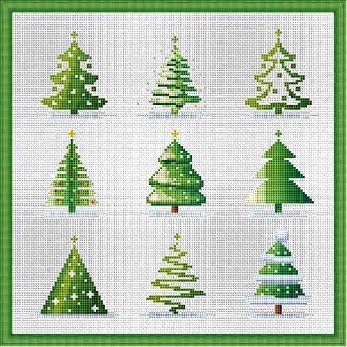 Вышивка крестом новогодней открытки