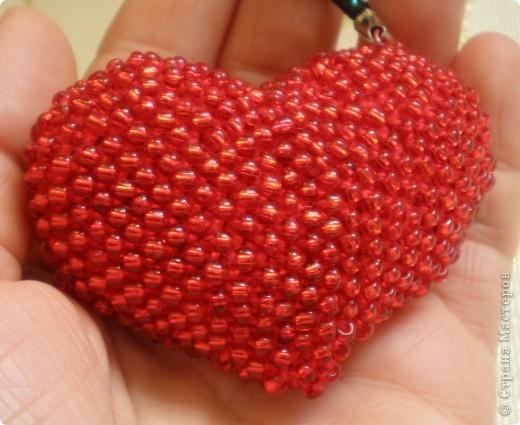 Объемное сердце из бисера