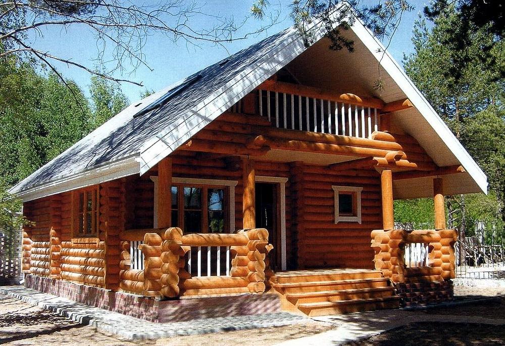 Красивые дома из бревна фото